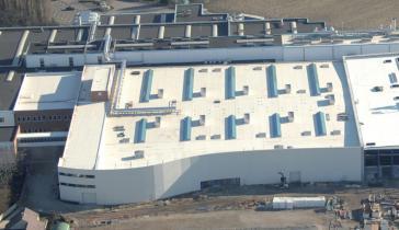 Firestone Ultraply TPO/FPO szigetelő lemez ipari tetőszigetelés