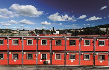 készházak, moduláris házak, firestone RubberGard gumilemez