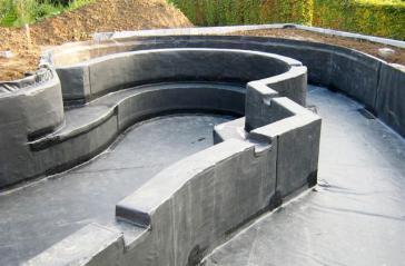 Természetes kert medence és fürdőtó EPDM gumi tófóliával