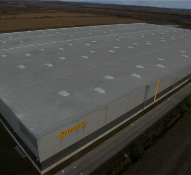Lapostető szigetelés ipari lapostető Continental központ Firestone Ultraply TPO/FPO lemez